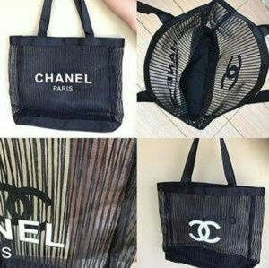 Authentic Chanel beauty Summer tote bag